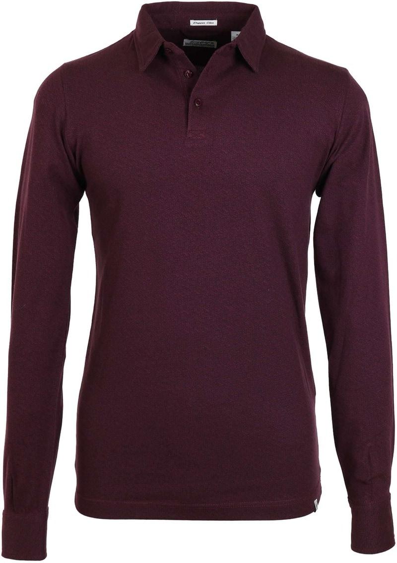 Dstrezzed Longsleeve Poloshirt Bordeaux Print  online bestellen | Suitable