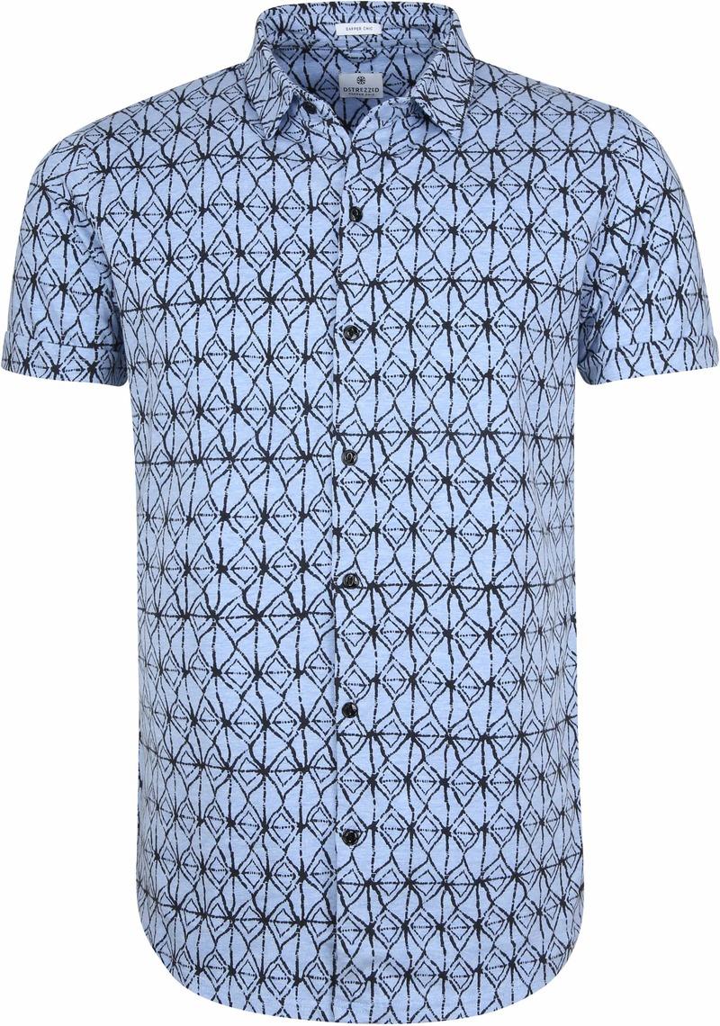 Dstrezzed Overhemd Blauw Print foto 0