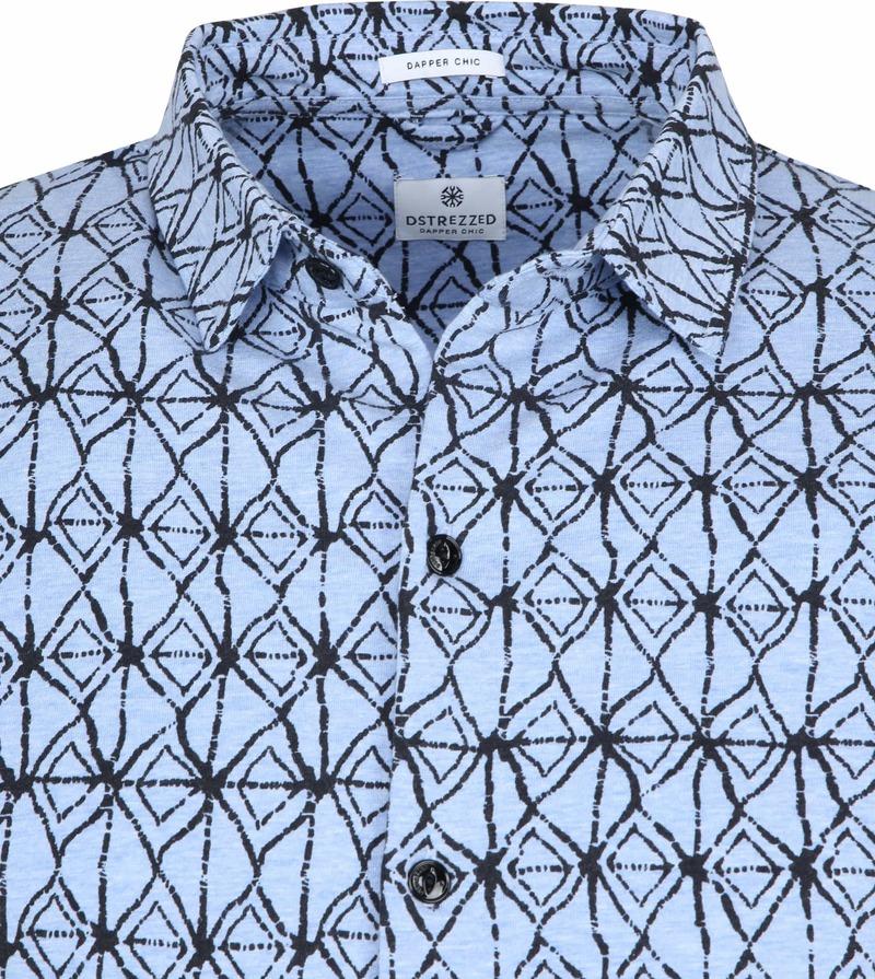 Dstrezzed Overhemd Blauw Print foto 1