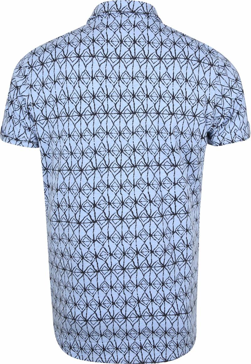 Dstrezzed Overhemd Blauw Print foto 3