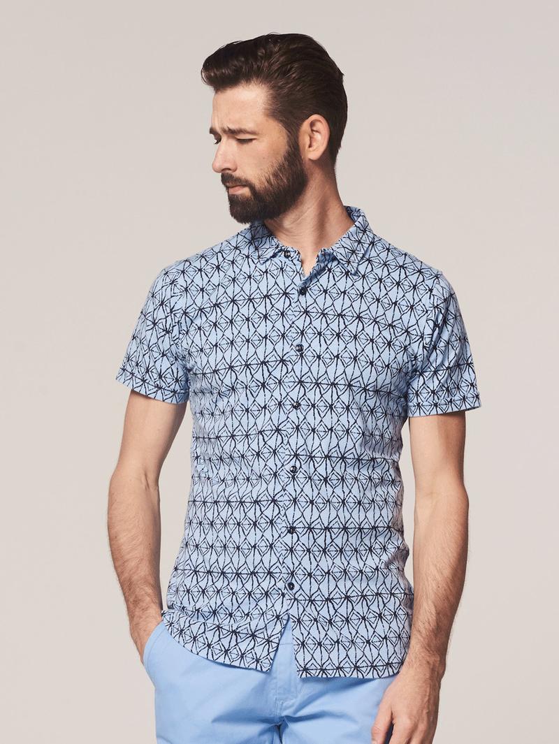 Dstrezzed Overhemd Blauw Print foto 4