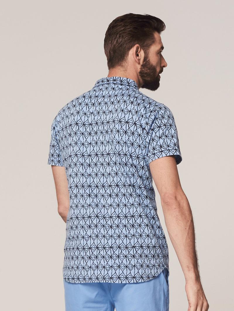 Dstrezzed Overhemd Blauw Print foto 5