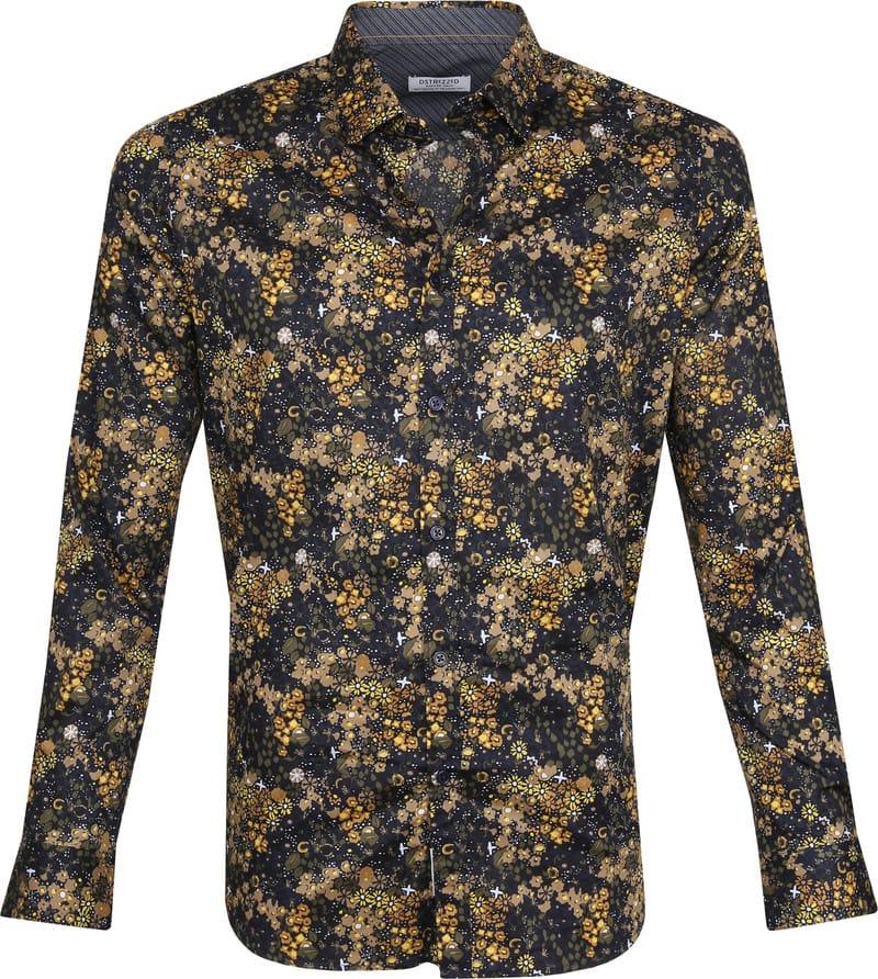 Dstrezzed Overhemd Bloemen Geel foto 0