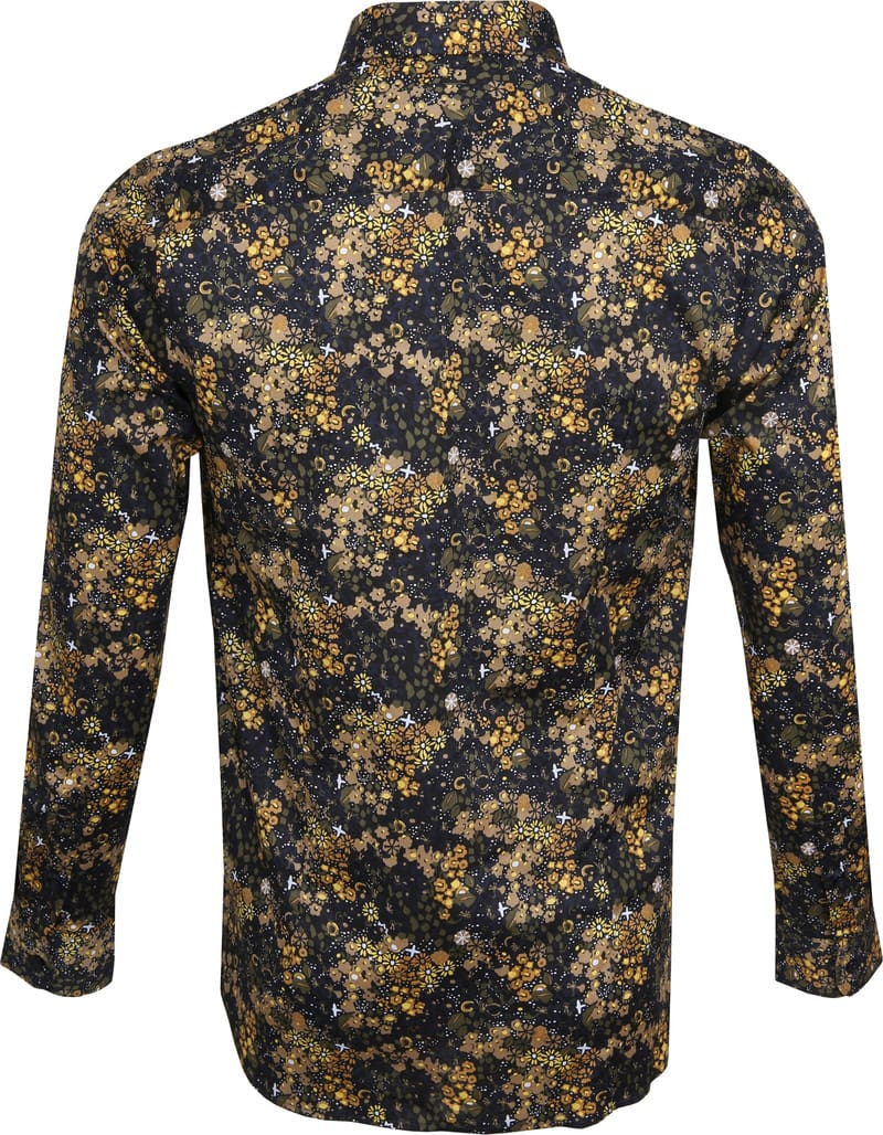 Dstrezzed Overhemd Bloemen Geel foto 3