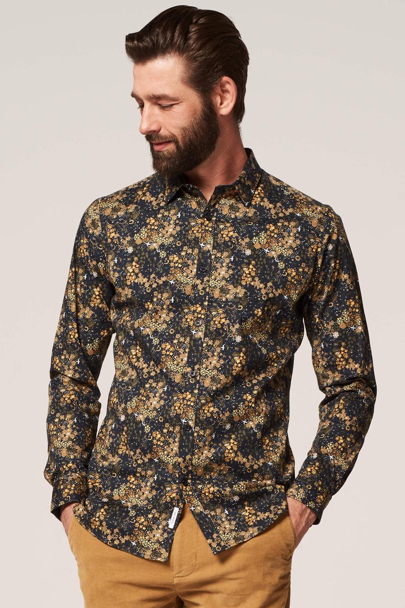 Dstrezzed Overhemd Bloemen Geel foto 4