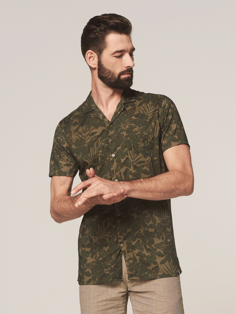 Dstrezzed Overhemd Camo Groen foto 4