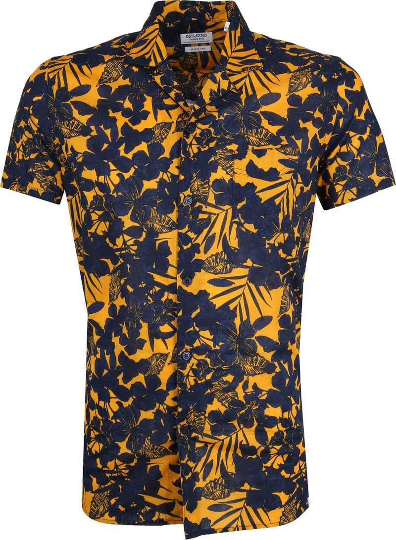 Dstrezzed Overhemd Donkerblauw Geel foto 0