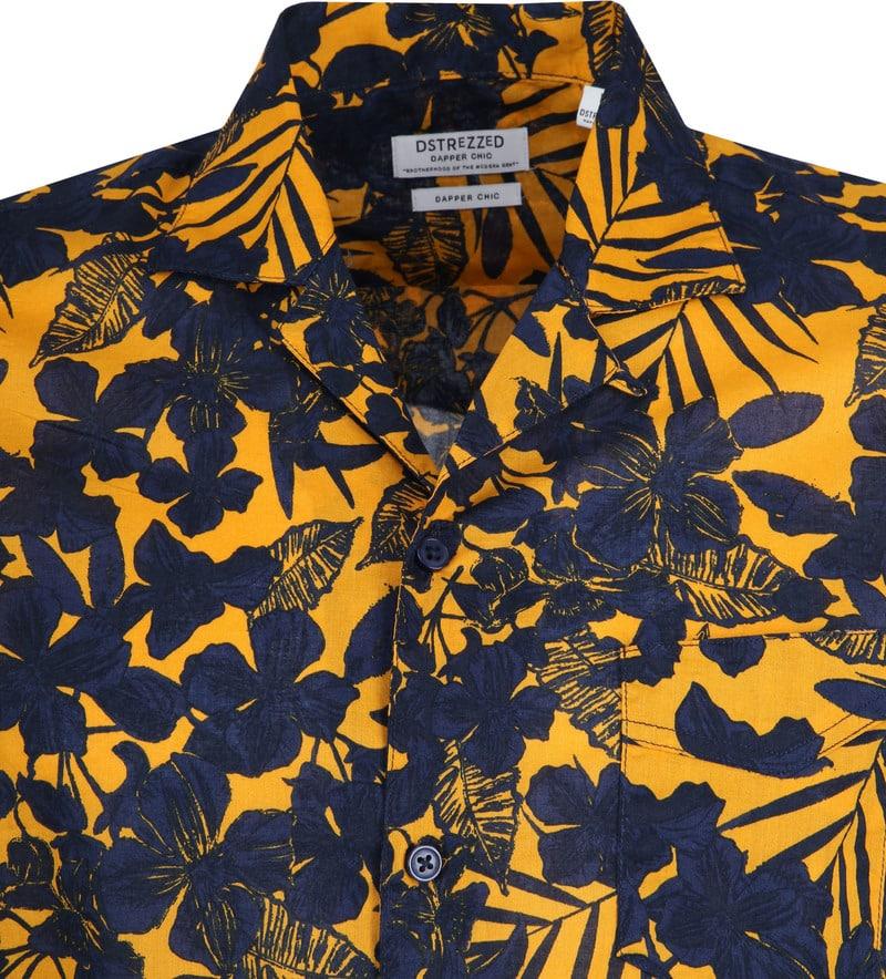 Dstrezzed Overhemd Donkerblauw Geel foto 1