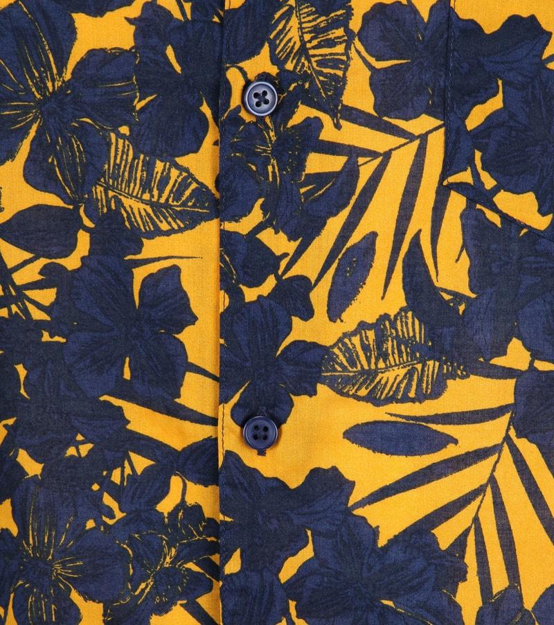 Dstrezzed Overhemd Donkerblauw Geel foto 2