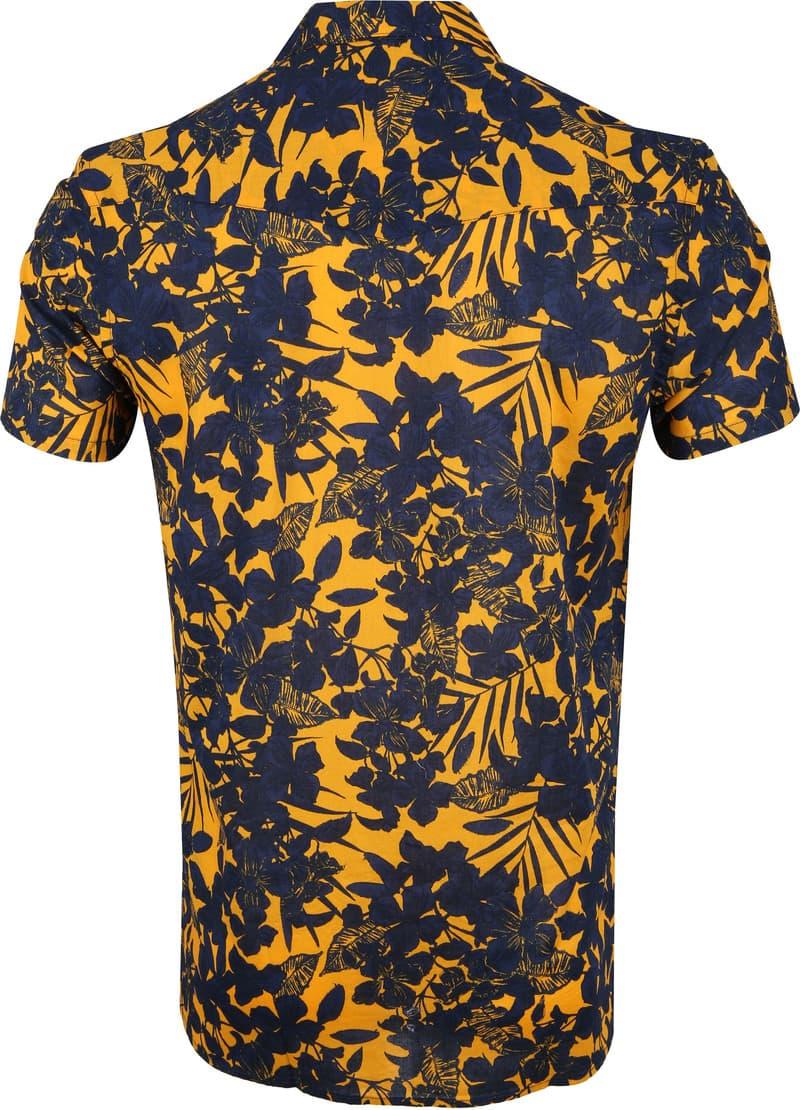 Dstrezzed Overhemd Donkerblauw Geel foto 3