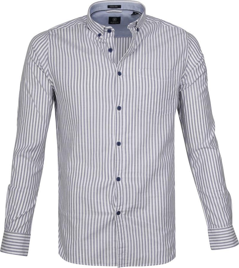 Dstrezzed Overhemd Twin Stripe Blauw foto 0