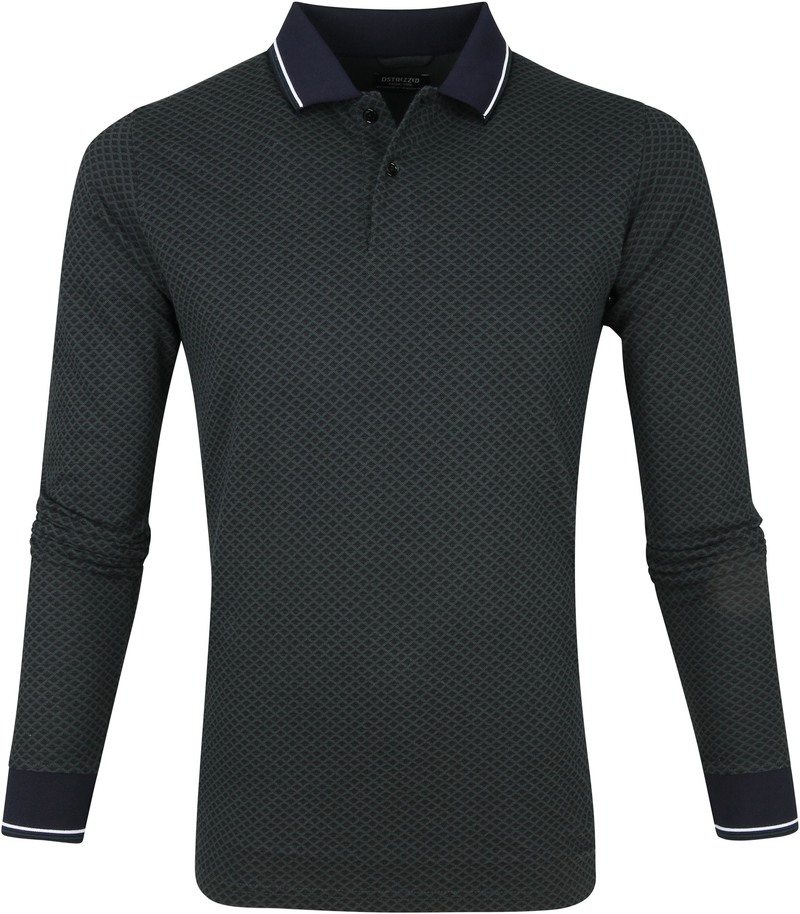 Dstrezzed Polo Graphic Pique Donkergroen