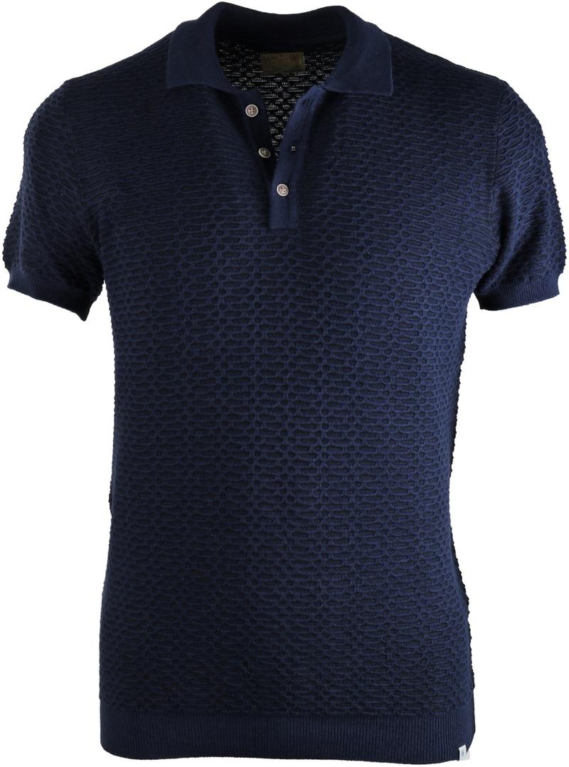 Dstrezzed Polo Jaquard Donkerblauw  online bestellen | Suitable