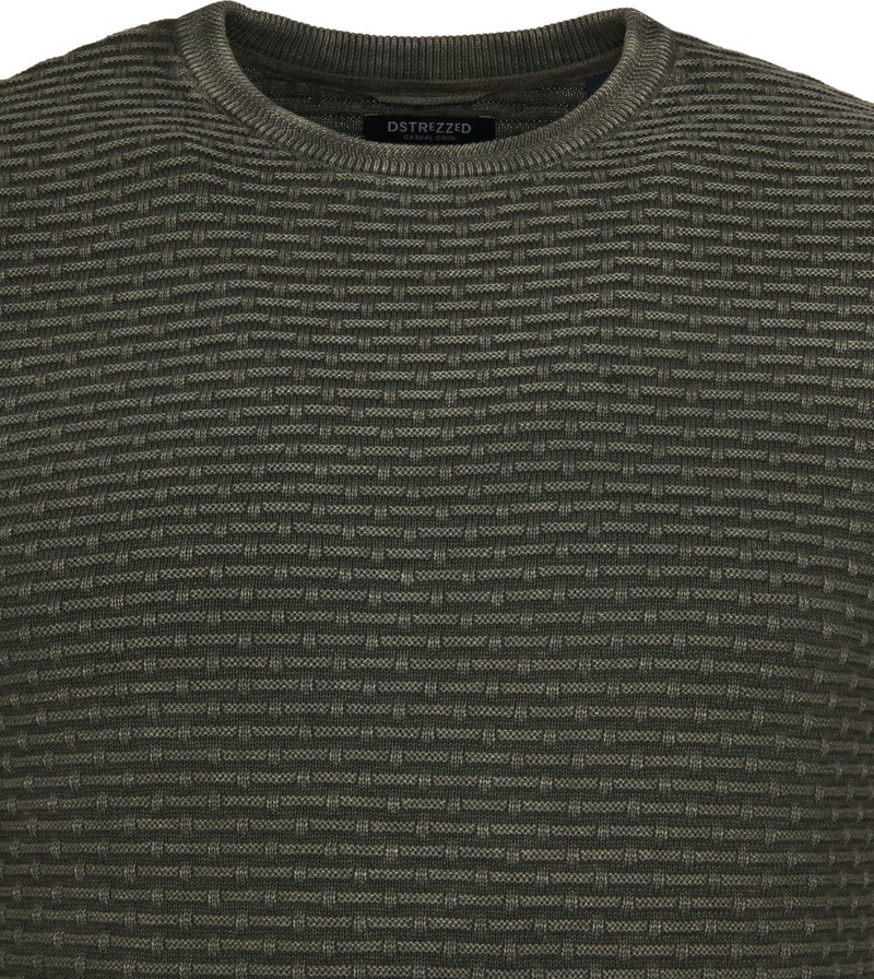 Dstrezzed Pullover Crew Acid Structure Army photo 1