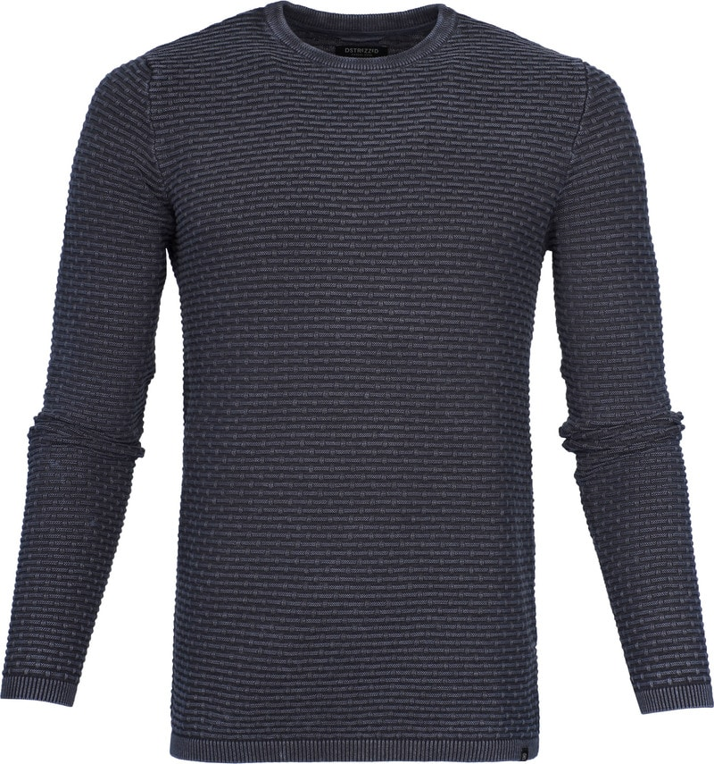 Dstrezzed Pullover Crew Acid Structure Navy photo 0