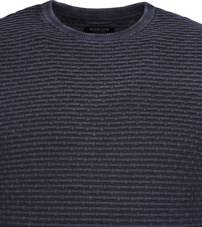 Dstrezzed Pullover Crew Acid Structure Navy photo 1