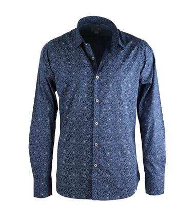 Dstrezzed Shirt Donkerblauw Print  online bestellen | Suitable