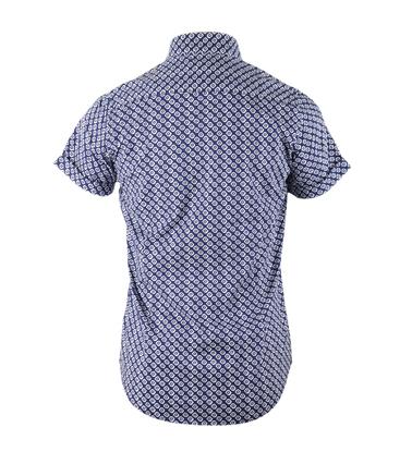 Detail Dstrezzed Shirt Korte Mouw Blauw