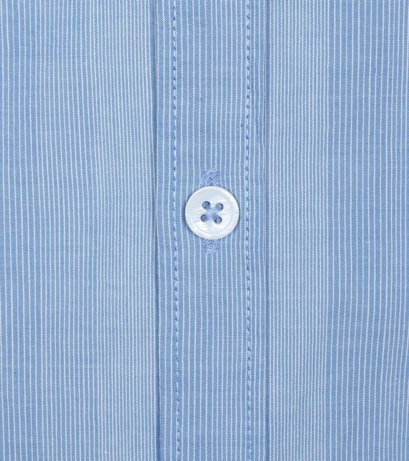 Detail Dstrezzed Shirt Mao Streep Blauw