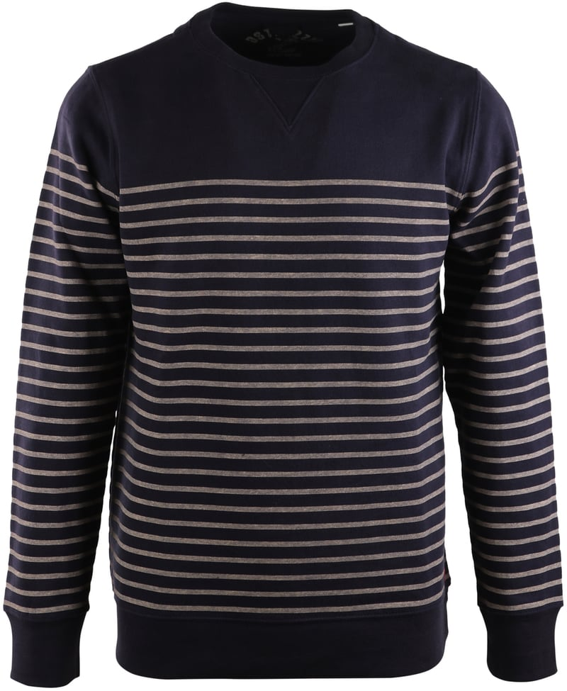 Dstrezzed Sweater Donkerblauw Streep  online bestellen | Suitable