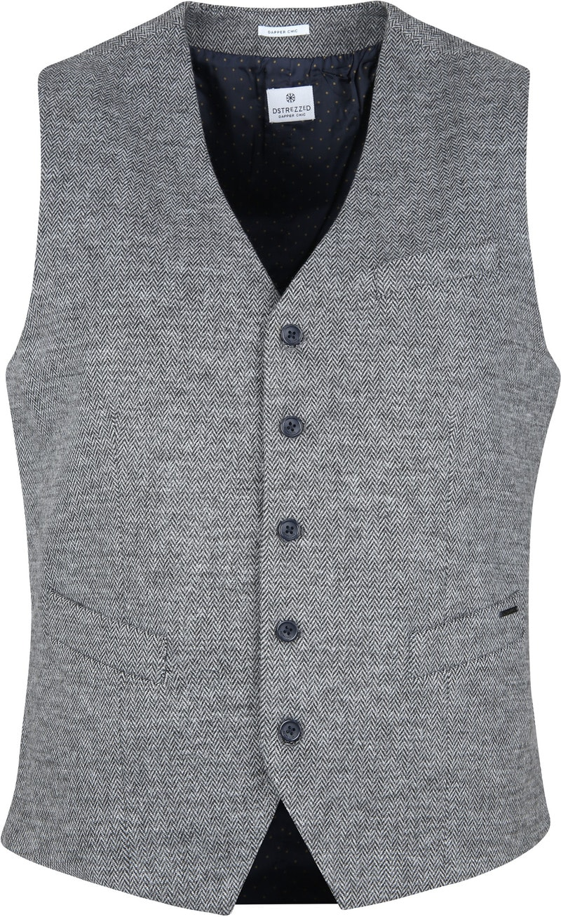 Dstrezzed Waistcoat Herringbone Grey photo 0