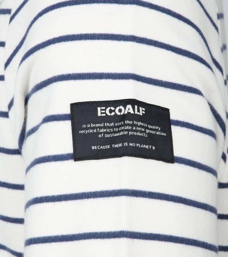 Ecoalf Pluscombe Sweater Strepen - Wit maat M