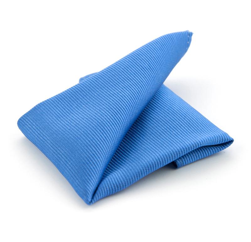 Einstecktuch Seide Königsblau F05 Foto 0