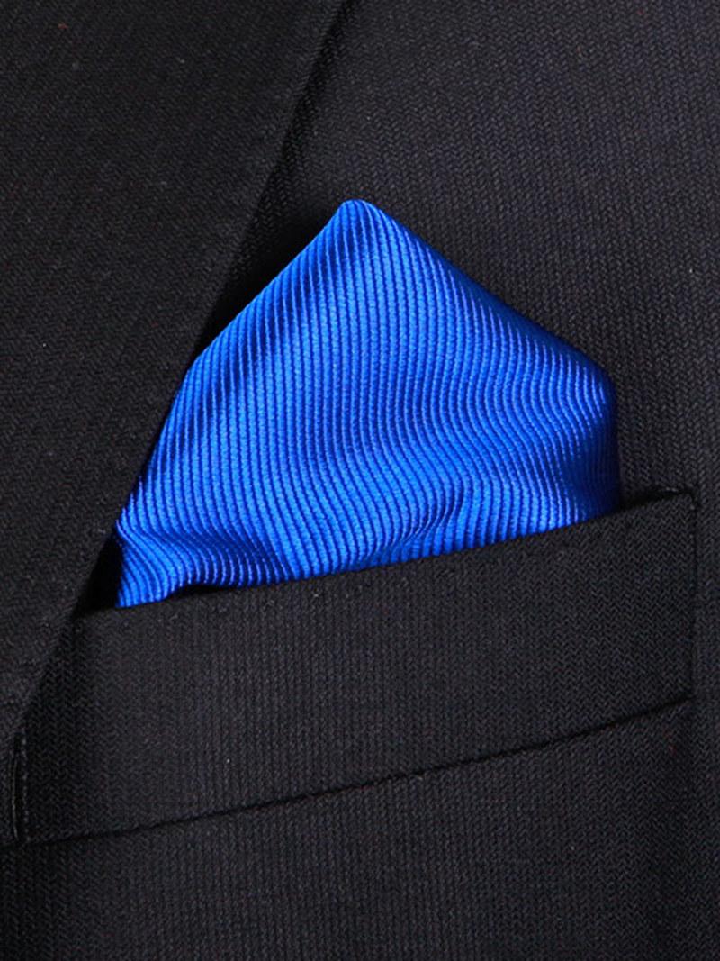 Einstecktuch Seide Kolbaltblau F65 Foto 1