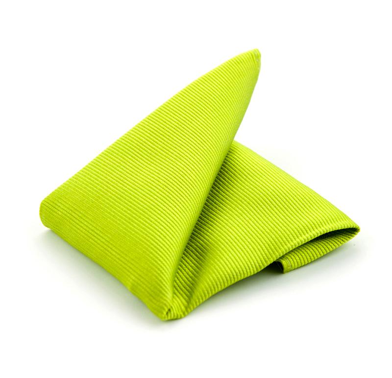 Einstecktuch Seide Limettengrün F04