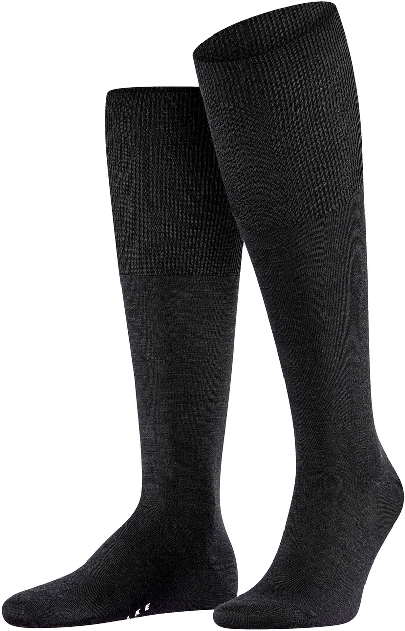 Falke Airport Knee Socks Black 3000
