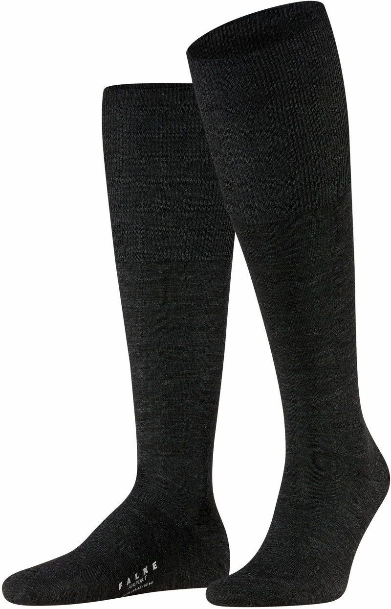 Falke Airport Knee Socks Dark Grey 3080