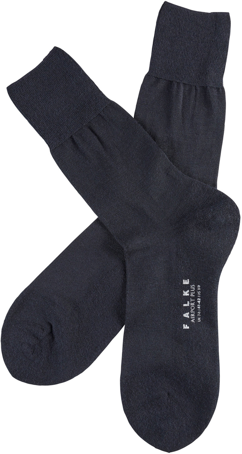 FALKE Airport PLUS Socken Navy 6370 foto 1