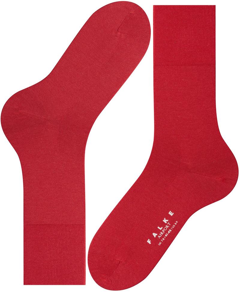 FALKE Airport Socken Rot 8120
