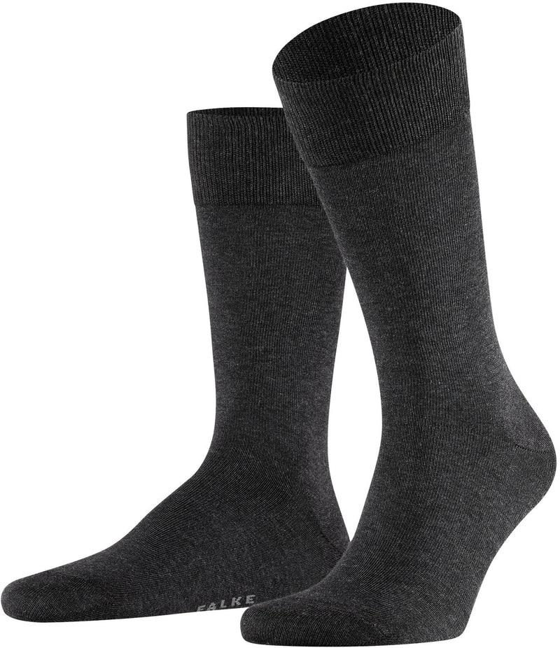 Falke Happy Socks 2 Pair Dark Grey Melange photo 0