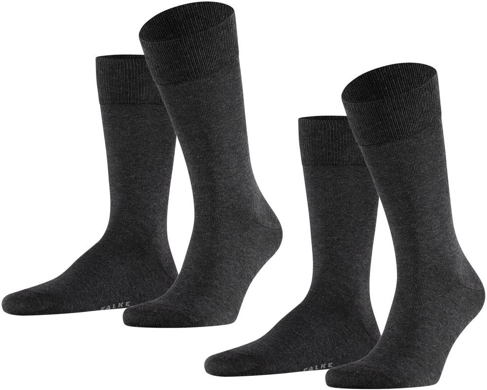 Falke Happy Socks 2 Pair Dark Grey Melange photo 1