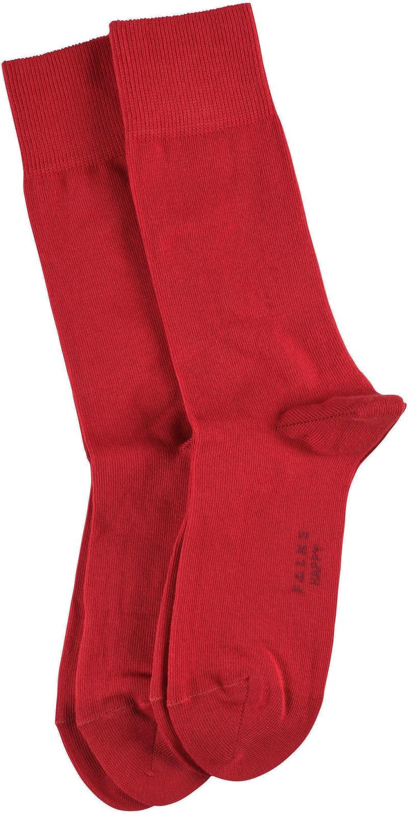 Falke Happy Sokken 2 Paar Rood
