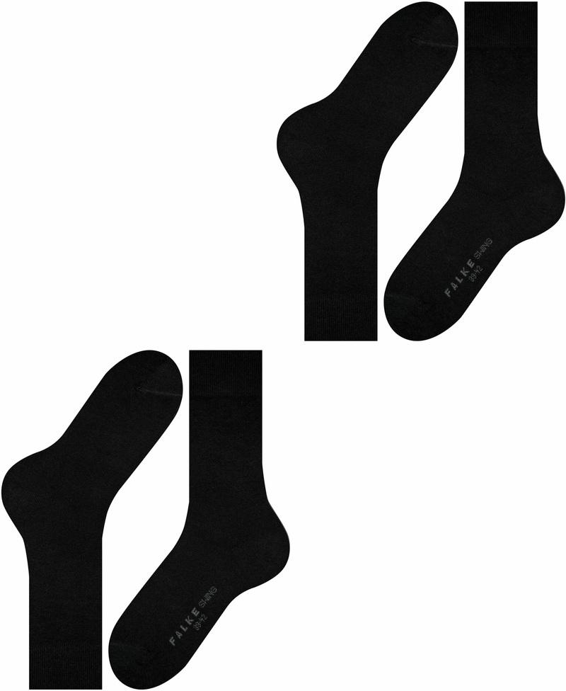 Falke Swing Sokken 2-Pack Zwart