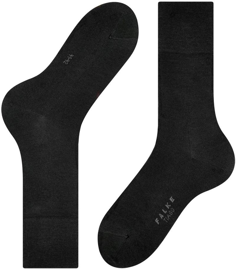 FALKE Tiago Socken Schwarz 3000