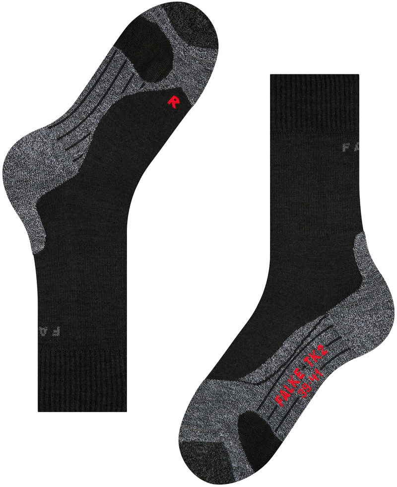 Falke TK2 Hiking Socks Black