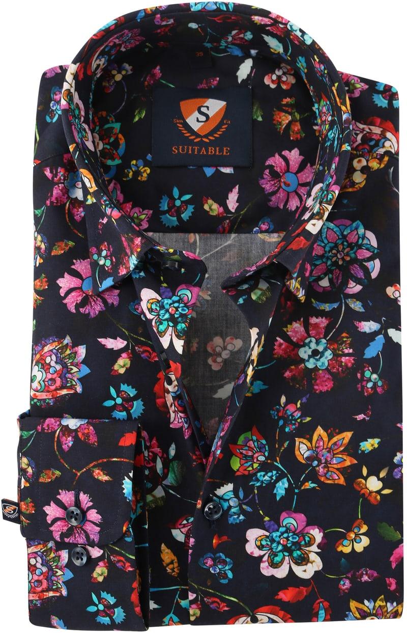 Flower Power Overhemd Donkerblauw 154-5  online bestellen | Suitable