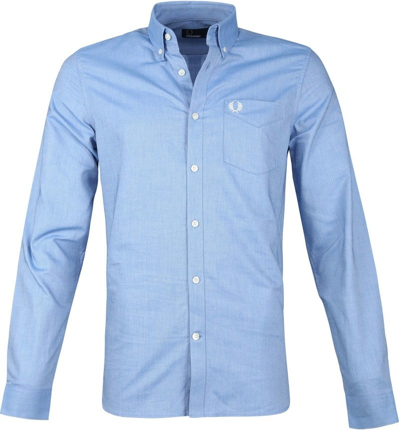 Fred Perry Classic Overhemd Blauw foto 0