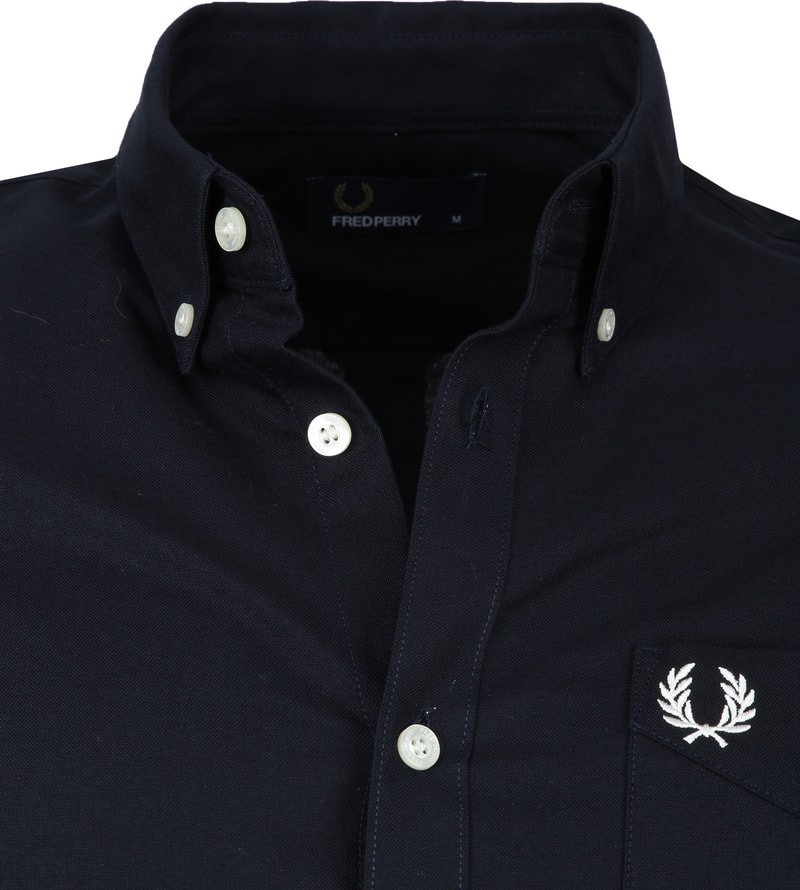 Fred Perry Classic Overhemd Navy foto 1