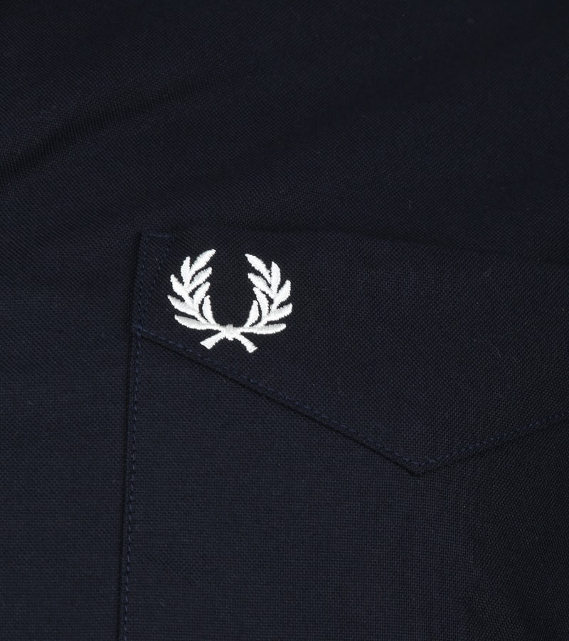 Fred Perry Classic Overhemd Navy foto 2