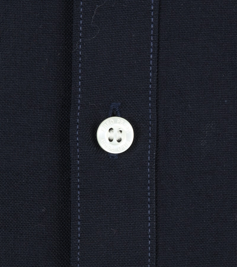 Fred Perry Classic Overhemd Navy foto 3