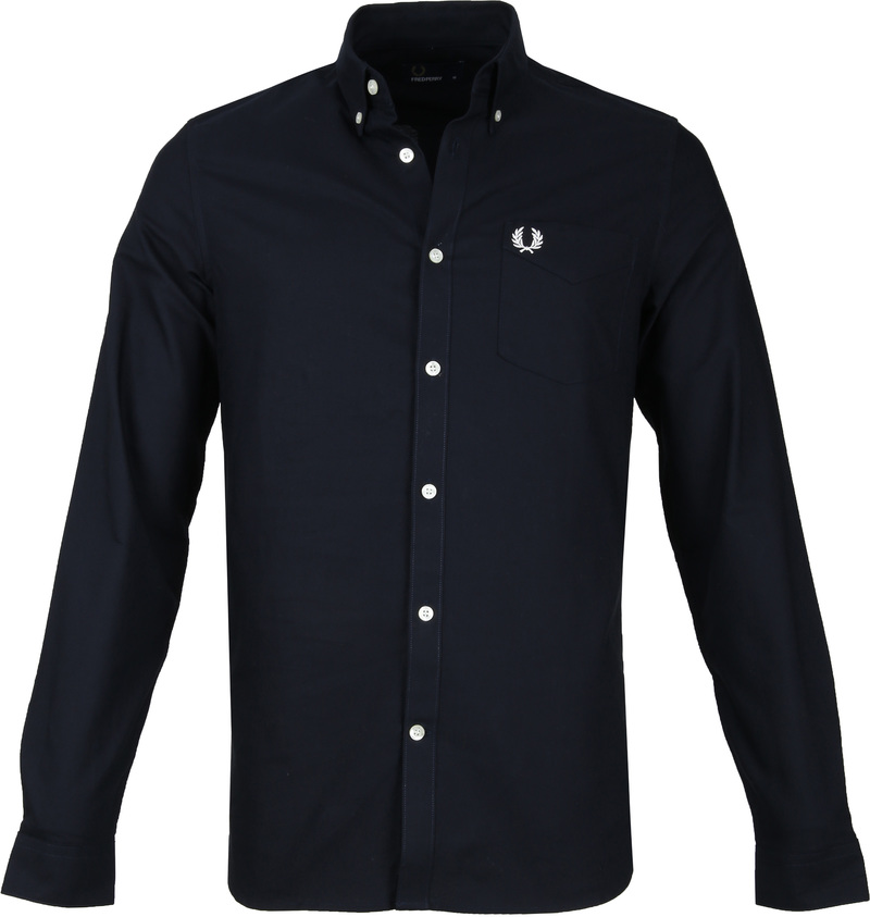 Fred Perry Classic Overhemd Navy foto 0