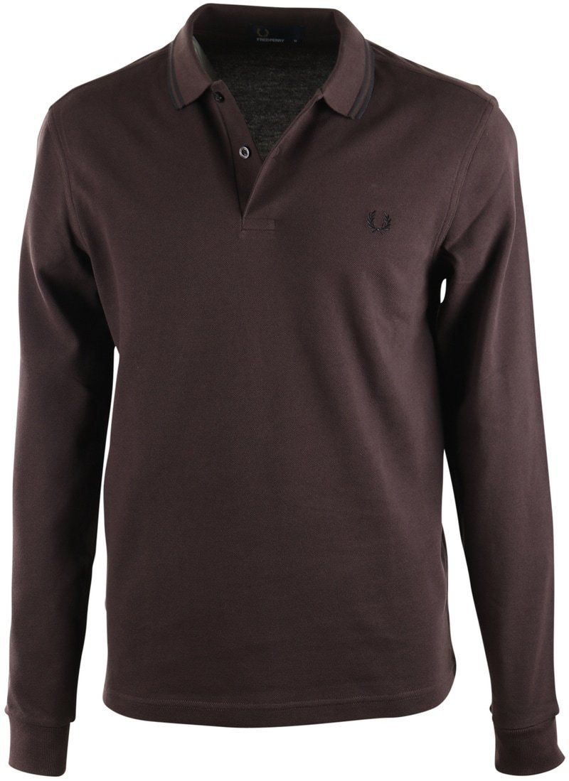 Fred Perry Longsleeve Polo Bruin E84  online bestellen | Suitable