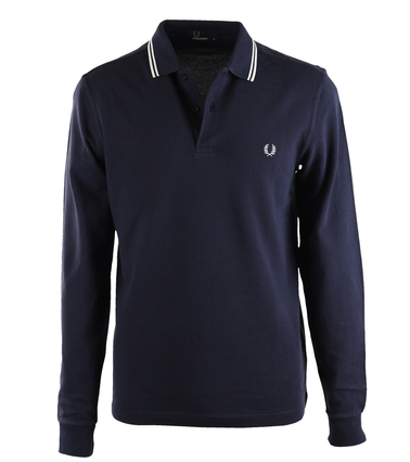 Fred Perry Longsleeve Polo Donkerblauw 226  online bestellen | Suitable
