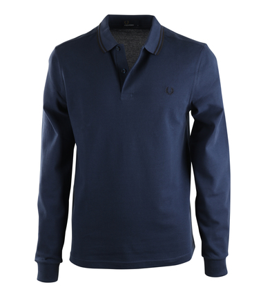 Fred Perry Longsleeve Polo Donkerblauw E85  online bestellen | Suitable