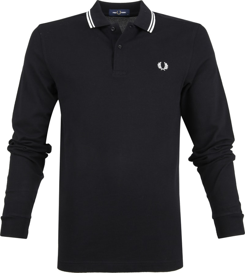 Fred Perry LS Polo Zwart 102 foto 0