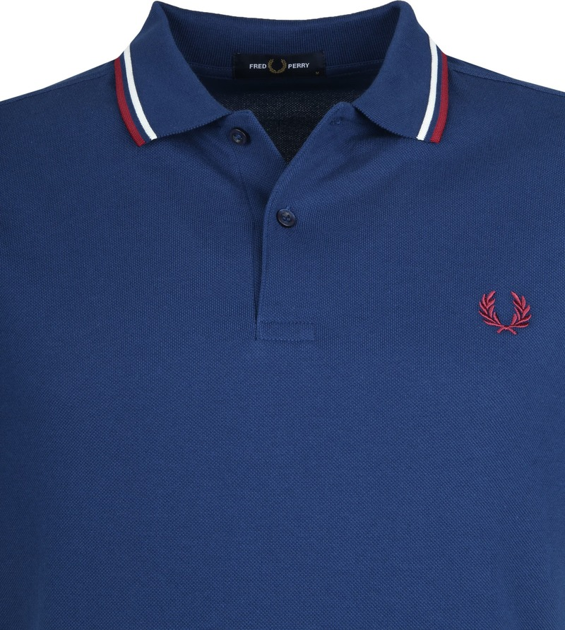 Fred Perry Polo Blauw 588 foto 1